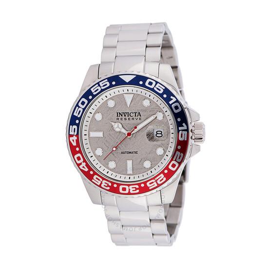 Invicta Reserve Automatic Silver Dial Pepsi Bezel Men's Watch 34199   Joma Shop