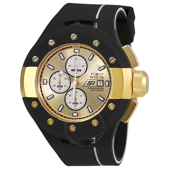 Invicta S1 Rally Chronograph Gold Dial Men's Watch 22437   Joma Shop