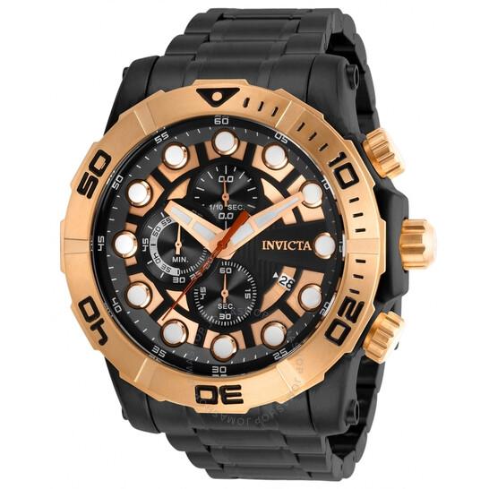 Invicta Sea Hunter Chronograph Quartz Black Dial Men's Watch 28267 | Joma Shop
