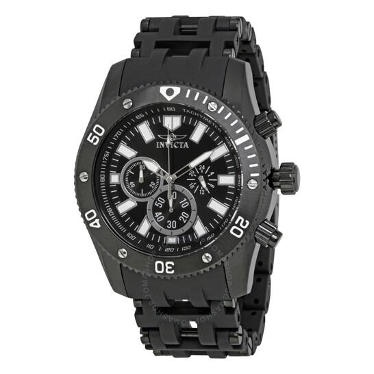 Invicta Sea Spider Chronograph Black Dial Men's Watch 14862   Joma Shop