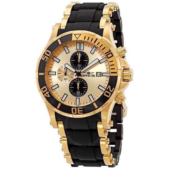 Invicta Sea Spider Chronograph Gold Dial Men's Watch 1478   Joma Shop