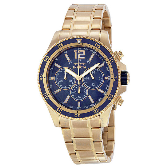 Invicta Specialty Chronograph Blue Dial Gold-tone Men's Watch 13978 | Joma Shop