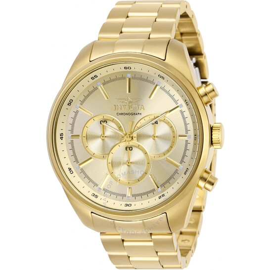 Invicta Specialty Chronograph Gold Dial Men's Watch 29168   Joma Shop