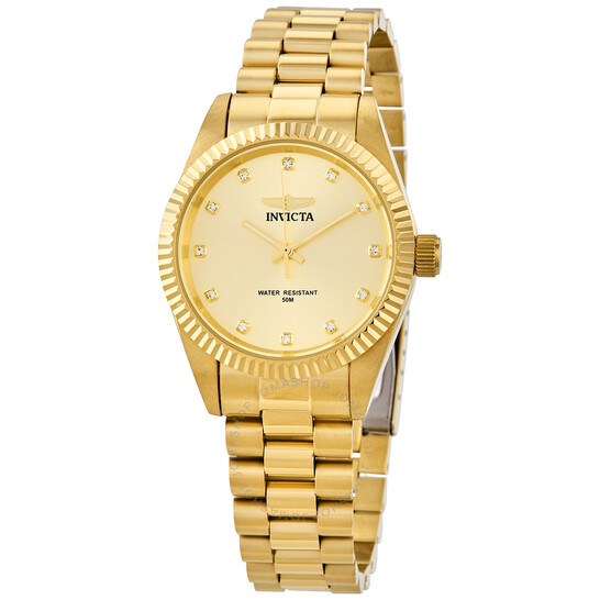 Invicta Specialty Quartz Crystal Champagne Dial Ladies Watch 29511 | Joma Shop