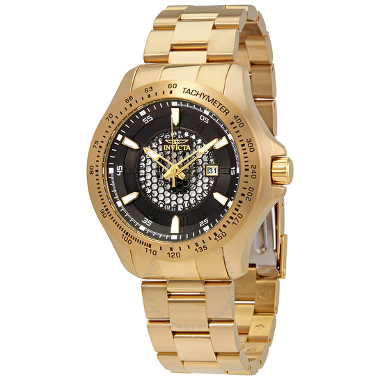 Invicta Speedway Black Dial Yellow Gold-tone Men's Watch 25337   Joma Shop