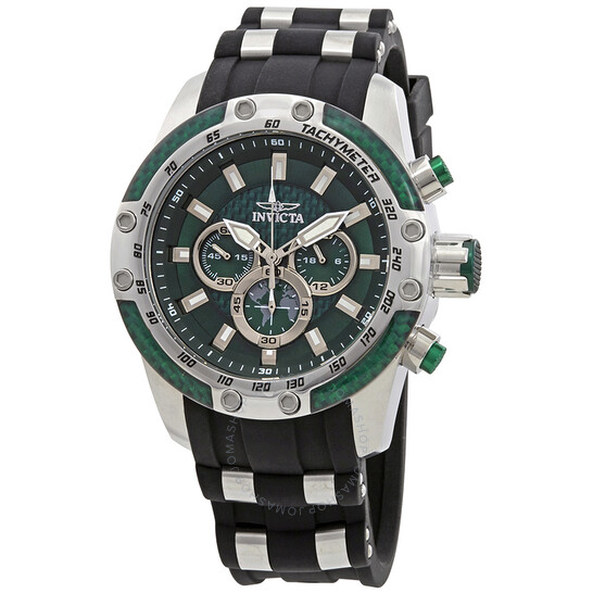 Invicta Speedway Chronograph Green Dial Two-Tone Men's Watch 25938 | Joma Shop