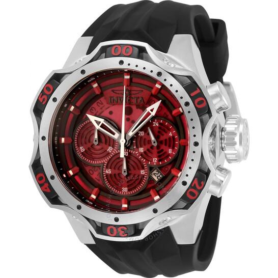 Invicta Venom Chronograph Quartz Red Dial Men's Watch 33631   Joma Shop