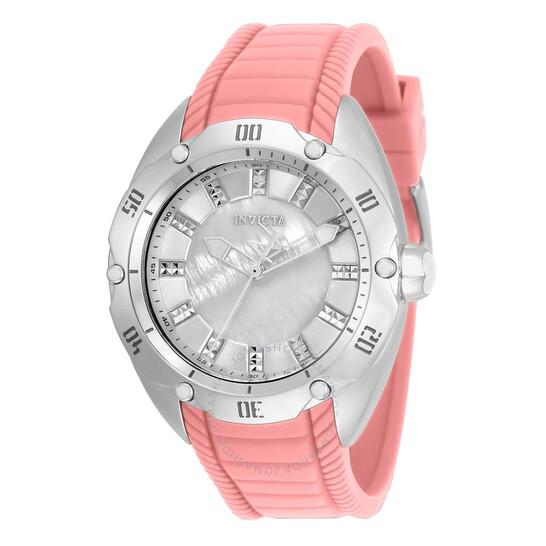 Invicta Venom Quartz White Dial Pink Silicone Ladies Watch 34048 | Joma Shop