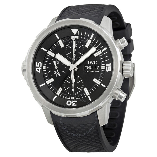 Iwc Aquatimer Chronograph Black Dial Black Rubber Men's Watch IW376803 | Joma Shop