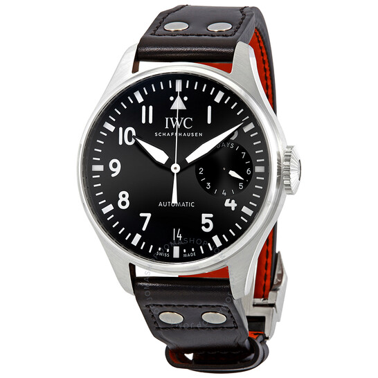 IWC Big Pilot Automatic Black Dial Black Leather Men's Watch IW501001  IW501001 - IWC, Pilot - Jomashop
