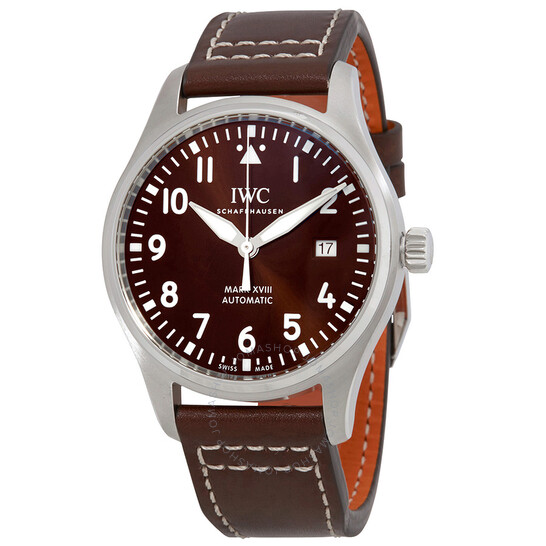 Iwc Pilot Mark XVIII Edition Automatic Brown Dial Men's Watch IW327003   Joma Shop