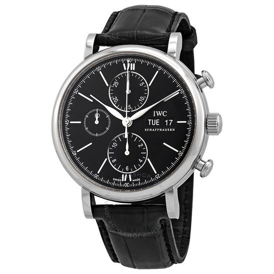 Iwc Portofino Chronograph Automatic Black Dial Men's Watch 3910-29 | Joma Shop