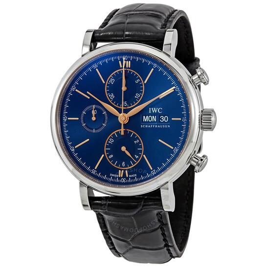 Iwc Portofino Chronograph Automatic Blue Dial Men's Watch IW391036 | Joma Shop