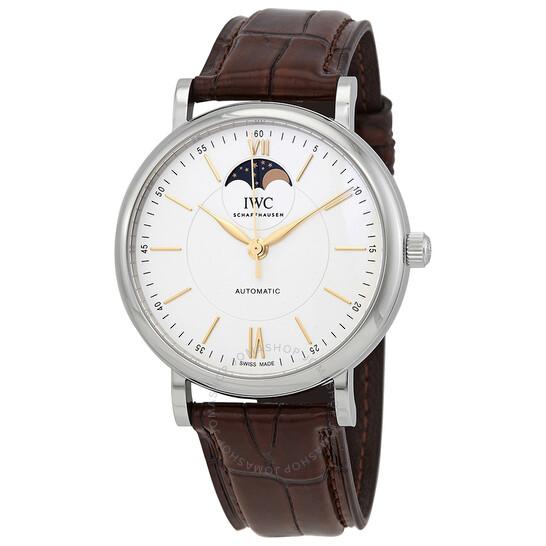 Iwc Portofino Moon Phase Automatic Silver Dial Men's Watch IW459401 | Joma Shop