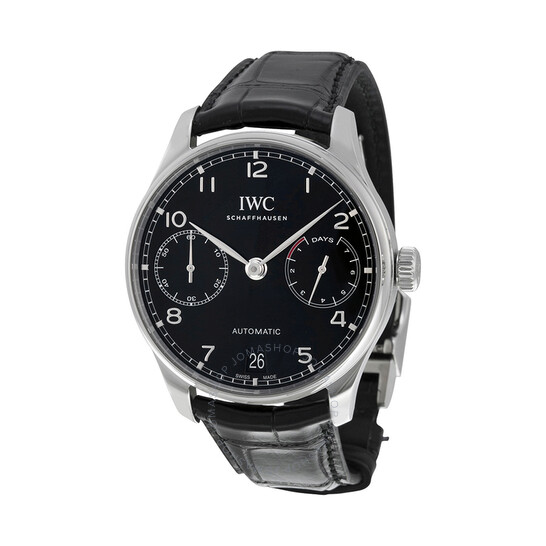 Iwc Portugieser Automatic Black Dial Men's Watch IW500703 | Joma Shop