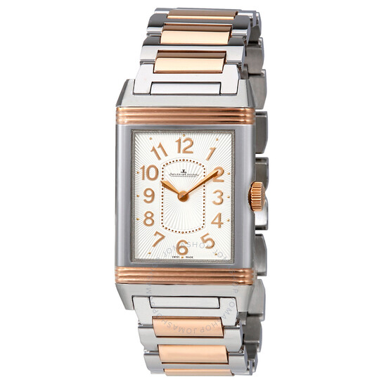 Jaeger Lecoultre Grande Reverso Silver Dial Steel And 18kt Rose Gold Ladies Watch Q3204120 | Joma Shop