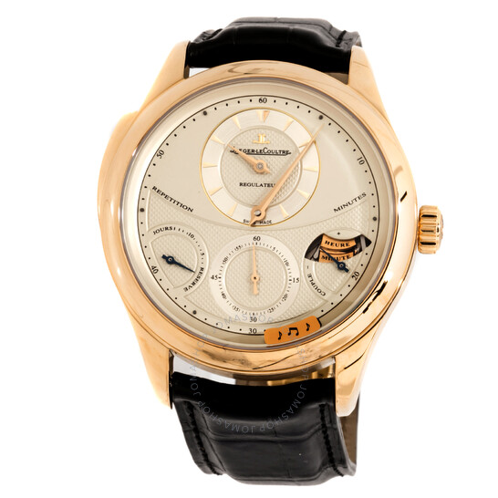 Jaeger Lecoultre Master Grand Tradition 18kt Yellow Gold Black Leather Men's Watch Q5011410 | Joma Shop