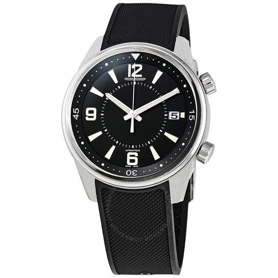 Jaeger Lecoultre Polaris Date Automatic Black Dial Men's Rubber Watch Q9068670 | Joma Shop