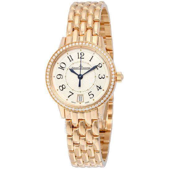 Jaeger Lecoultre Rendez-Vous Date Automatic Silver Dial 18kt Rose Gold Ladies Watch Q3512120   Joma Shop