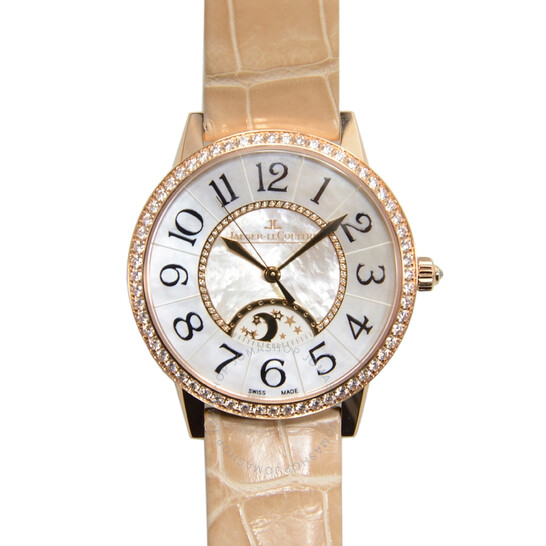 Jaeger Lecoultre Rendez-vous Joaillerie Mother of Pearl Dial 18K Pink Gold Diamond Ladies Watch Q3432490 | Joma Shop