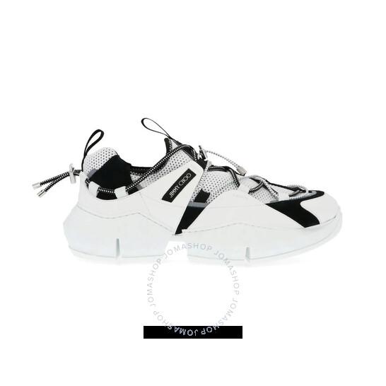 Jimmy Choo Men's Diamond Trail Low-Top Sneakers In White/Black, Brand Size 44 (US Size 11) | Joma Shop