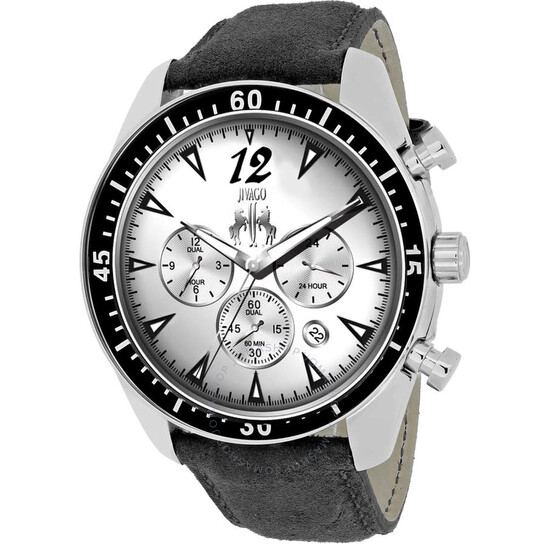 Jivago Timeless Chronograph Silver Dial Men's Watch JV4510 | Joma Shop