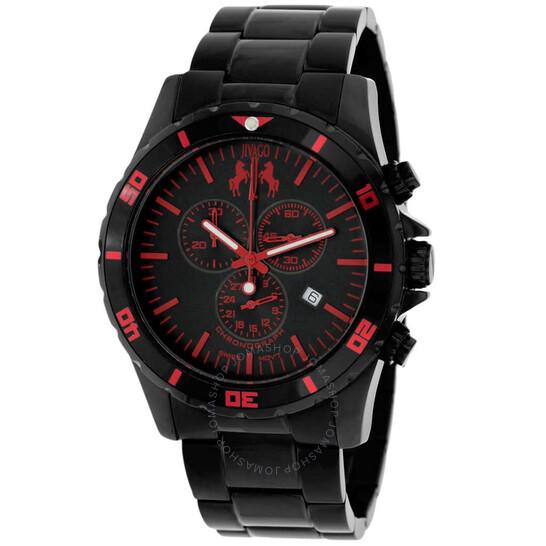 Jivago Ultimate Chronograph Quartz Black Dial Men's Watch JV6126 | Joma Shop
