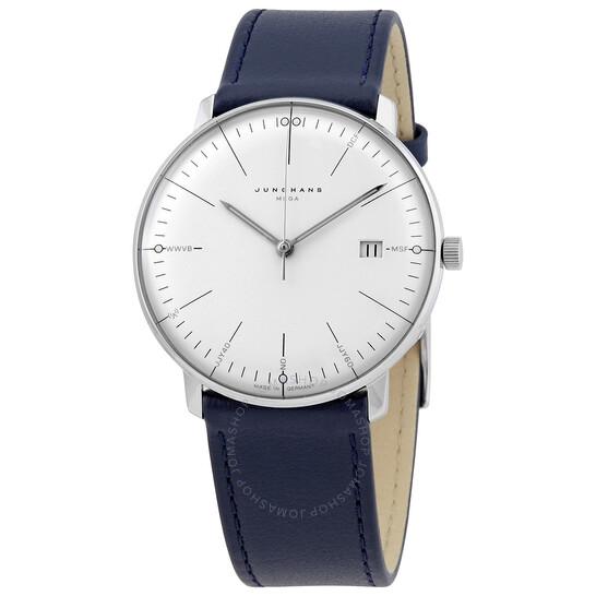 Junghans Max Bill Mega Quartz White Dial Men's Watch 058/4822.00   Joma Shop
