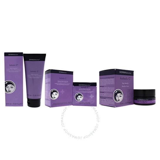 Redken Kakadu C Kit by DERMAdoctor for Women - 3 Pc Kit 7.10oz Brightening Daily Cleanser, 30 x 0.06oz Intensive Vitamin C Peel Pads, 0.5oz Eye Souffle Cream   Joma Shop