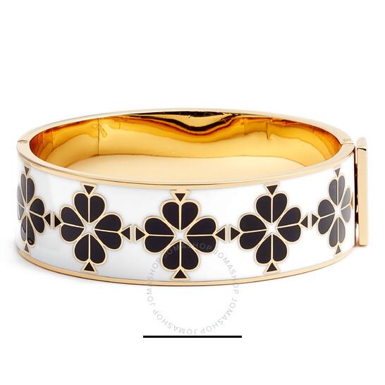 Kate Spade Black / Multi Heritage Spade Thin Floral Enamel Bangle | Joma Shop