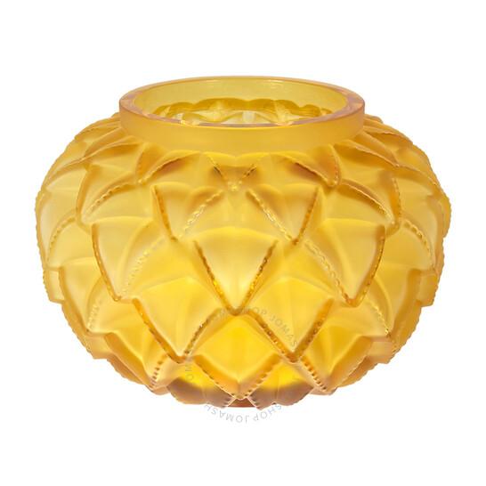 Lalique Amber Crystal Languedoc Vase   Joma Shop
