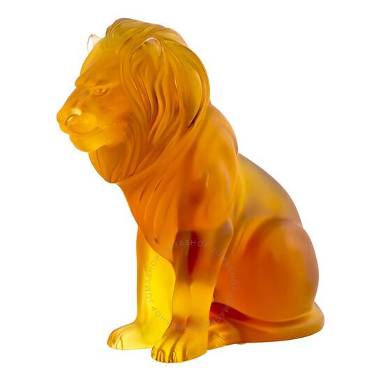 Lalique Bamara Amber Lion 10139900 | Joma Shop