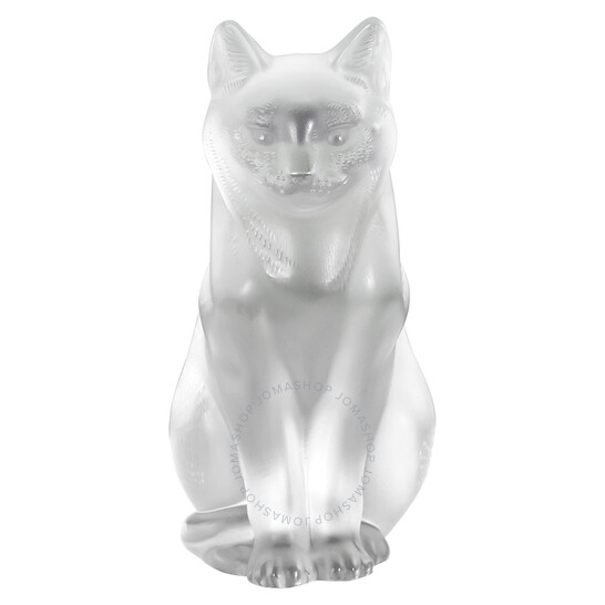 Lalique Crystal Cat Sitting 11603 | Joma Shop