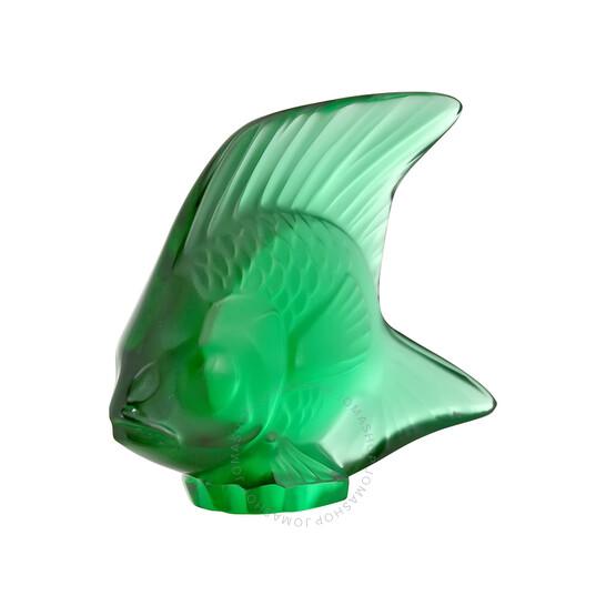 Lalique Crystal Fish Emerald Figurine 30010   Joma Shop