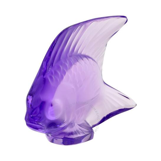 Lalique Crystal Fish Light Violet 30030 | Joma Shop