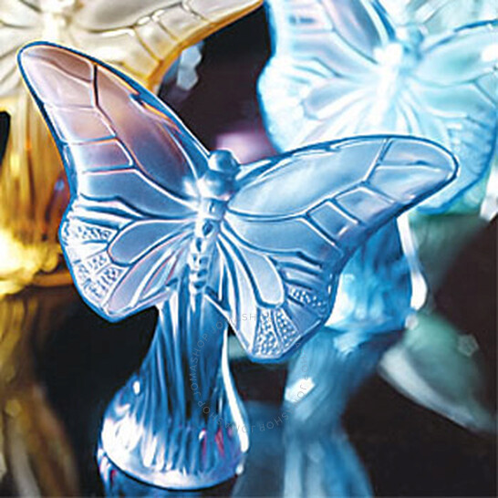 Lalique Figure Butterfly Rosee Blue Crystal 12176 | Joma Shop