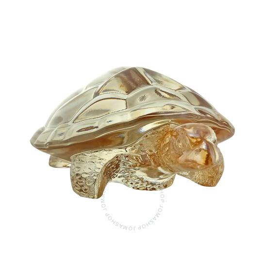 Lalique Gold Luster Caroline Turtle Sculpture 10139300   Joma Shop