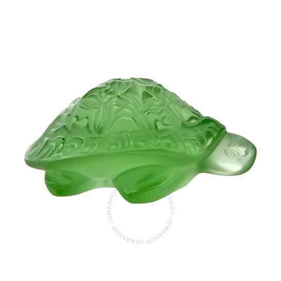 Lalique Green Sidonie Turtle Sculpture 1214500 | Joma Shop