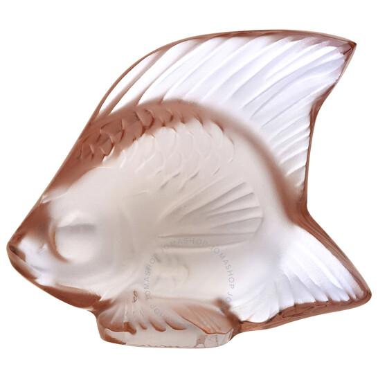 Lalique Opaque Pink Fish 30017 | Joma Shop