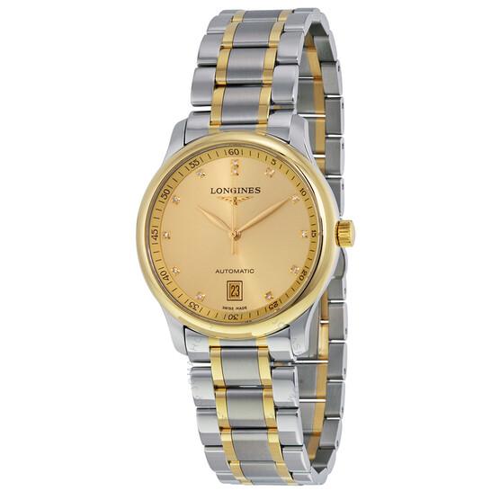 Longines Master Automatic Diamond Champagne Dial Men's Watch L2.628.5.37.7   Joma Shop