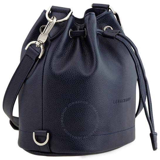 Longchamp Ladies Navy Le Foulonne Bucket Bag S