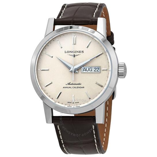 Longines 1832 Automatic Beige Dial Men's Watch L4.827.4.92.2   Joma Shop
