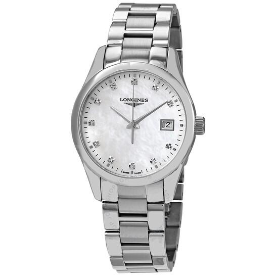 Longines Conquest Classic Quartz Diamond Watch L2.386.4.87.6   Joma Shop