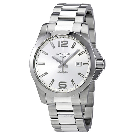longines-conquest-silver-dial-automatic-