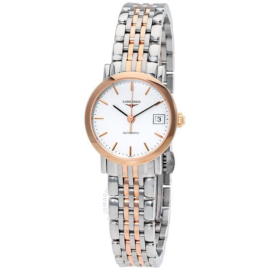Longines Elegant Automatic White Dial Ladies Watch L4.309.5.12.7   Joma Shop