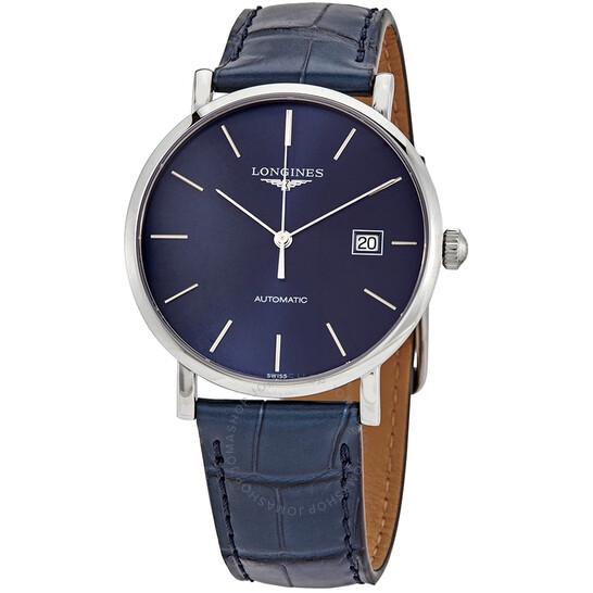 Longines Elegant Automatic Blue Dial Men's Watch L4.910.4.92.2   Joma Shop