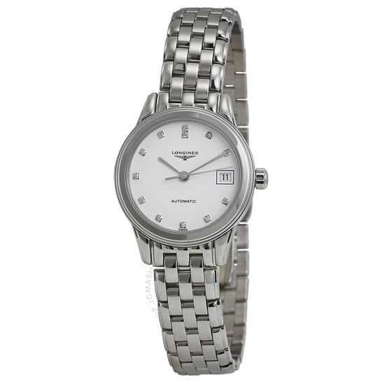 Longines Flagship Automatic Diamond Ladies Watch L4.274.4.27.6   Joma Shop
