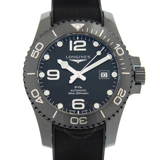 Longines Hydroconquest Automatic All Black Ceramic Men's 43mm Watch L37844569   Joma Shop
