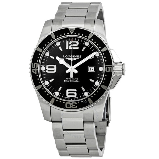 Longines Hydroconquest Automatic 44 mm Black Dial Men's Watch L3.841.4.56.6 | Joma Shop