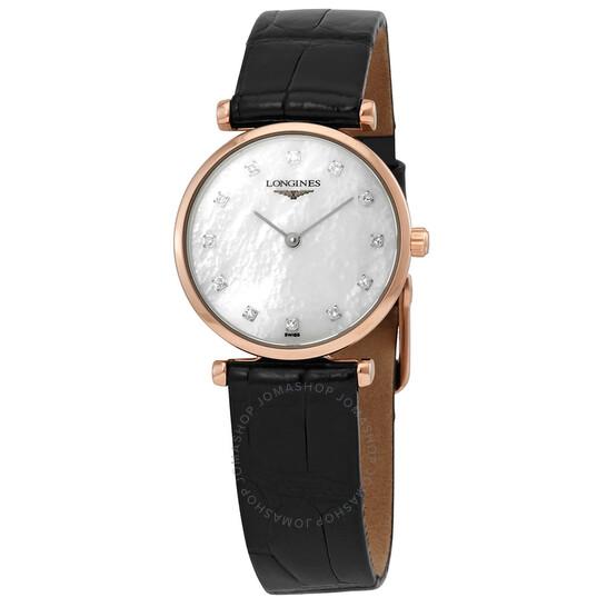 Longines La Grande Classique Quartz Diamond White Mother of Pearl Dial Ladies Watch L4.209.1.97.2 | Joma Shop
